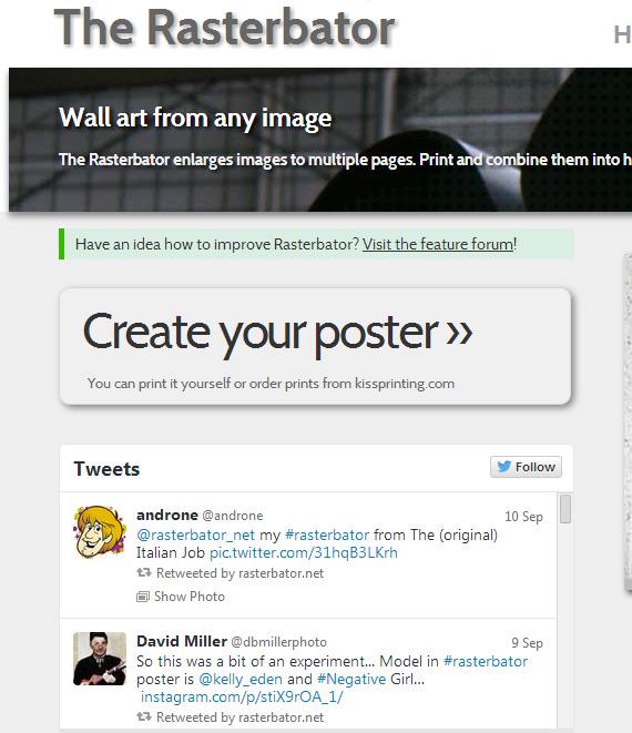 Быстро создать большой постер из частей